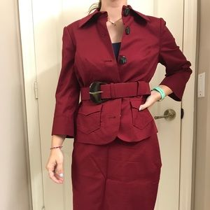 Brand new burgundy executive outfit